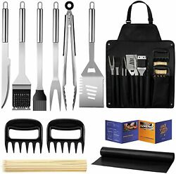 Bbq Grill Accessories Stainless Steel Tools Set For Men Women Grilling Utensils