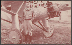 Plucky Charles Lindbergh And Spirit Of St Louis Arcade Card 1920s
