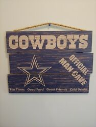 Dallas Cowboys Nfl Distressed Wood 3 Piece Sign Official Man Cave