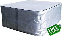 Hot Tub Cover Cap 84 Lx84 Dx 35 H Spa Cover Guard Uv Resistant And Water Proof