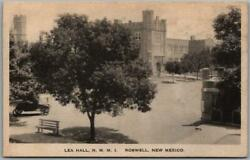 Roswell, Nm Postcard Lea Hall, New Mexico Military Institute Nmmi 1930 Cancel