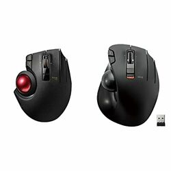 Elecom Wired / Wireless / Bluetooth Thumb-operated Trackball Mouse 8-button F...