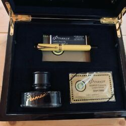 Parker Duofold Fountain Pen Cloisonne Yellow 18k Gold Med Pt New In Box From Jp