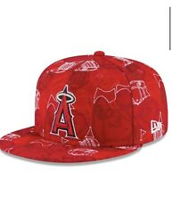 New Era Anaheim Angels Chaos 59fifty Fitted Hat Mlb Size 7