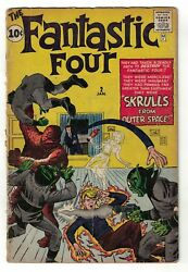 Marvel Comics Fantastic Four 2 Super Skrull 1st Appearance 2.0 Good Thing Pin Up