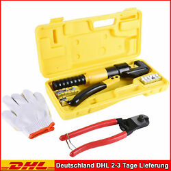 10 Ton Hydraulic Wire Terminal Crimper Battery Cable Lug Crimping Tool New