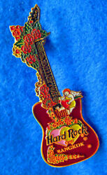 Bangkok Thai Valentineand039s Day Red Roses And Angel 3d Guitar Hard Rock Cafe Pin