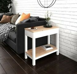 Roomfitters Farmhouse French Sofa Side End Table Cottage Storageandshelf