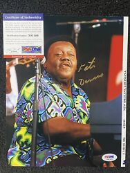 Fats Domino Rare Hand Signed Autographed 8x10 Photo New Orleans Jazz Psa/dna