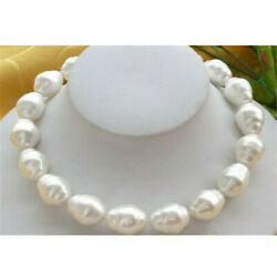 Huge Large 20mm South Sea White Baroque Shell Pearl Necklace 18 Chic Diy Real