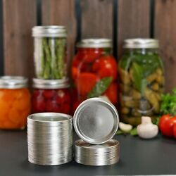 50-count Wide Mouth Canning Lids For Ball Kerr Jars Split Type Metal Mason