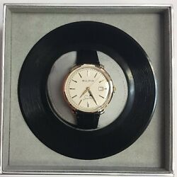 Bulova Frank Sinatra The Best Is Yet To Come Leather Automatic Watch 97b195
