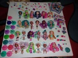 Hairdorables Huge Lot Of 24 1 Pet With Some Accessories And Stands
