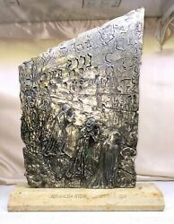 Salvador Dali The Wailing Wall Bronze Sculpture From Silver Edition Signed And