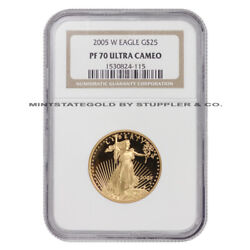 2005-w 25 Gold Eagle Proof Ngc Pf70ucam 22-karat West Point Coin Perfect Grade