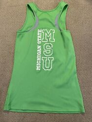 Womens Under Armour Green Michigan State Spartans Tank Top Fitted M