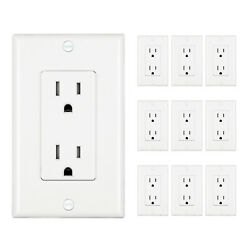 Dewenwils Duplex Receptacle Standard Wall Outlet Decora Electrical Outlet 10pack