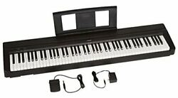 88-key Weighted Action With Sustain Pedal And Power Digital Piano Black P71