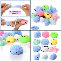 Toys Party Favors For Kids Squishys 12 Pack Mini Mochi Rising Fidget Hand Toy