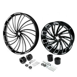 30 Front 18'' Rear Wheel Rim And Disc Hub Fit For Harley Electra Glide 2008-2021