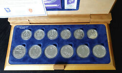 Norway Lillehammer Winter Olympics 1994 Silver Coin Set