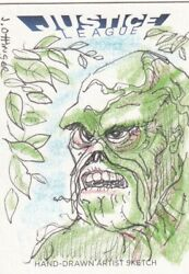 Dc Comics Justice League Sketch Card By John Ottinger Of Swampthing
