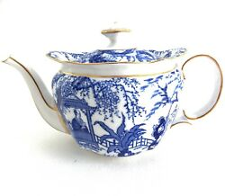 Royal Crown Derby Mikado Small Demitasse Or Individual Teapot Blue And White