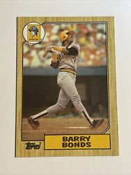 1987 Topps Barry Bonds - Pittsburgh Pirates 320 Rookie Card Error New Out Of
