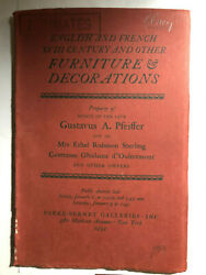 Estate Auction Parke-bernet Galleries English And French Xvhi Century Furniture