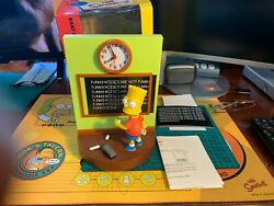 The Simpsons Bart Alarm Clock From Wesco 1999, With Cards And Box