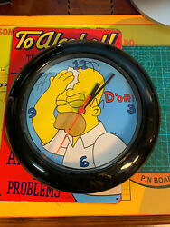 The Simpsons Homer Clock 1998 D'oh 10