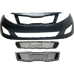 Bumper Cover Kit For 2014-2015 Kia Optima Front For Models Made In Usa 3pc Capa