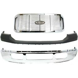 Bumper Cover Kit For 2006-2007 Ford F-250 F-350 Super Duty Front
