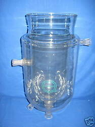 Glass Container Double-walled Approx. 676.3oz For Cool / Heating Glass Piston