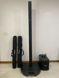 Bose L1 Model Pa Speaker System - Black With Bass Module B1 And Protective Bags
