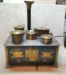 Vintage Antique German In Toy Stove With Claw Feet 1880-1890.