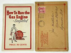Antique Gas Engine Booklet Manhattan Electrical Supply 1915 Nice