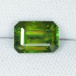 1.89 Ct Ultra Rare Multi Color Flashes Natural Sphene Octagon Gems See Vdo 1743