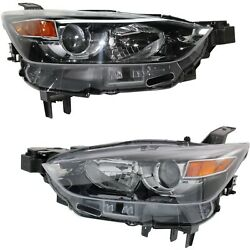 Headlight For 2016-2018 Mazda Cx-3 Pair Lh And Rh Lens And Housing