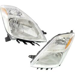 Headlight Set For 2004-2005 Toyota Prius Left And Right Hid 2pc