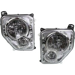 Headlight Set For 2008-2012 Jeep Liberty Left And Right With Fog Light Capa 2pc