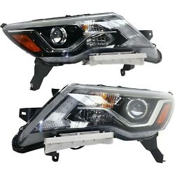 Headlight For 2017-2019 Nissan Pathfinder Pair Driver And Passenger Side