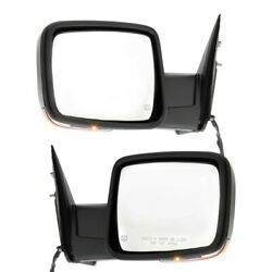 Set Of 2 Mirror Power For 2013-2015 Ram 1500 Left And Right Heated Manual Fold