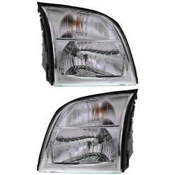 Headlight Set For 2006 Mercury Mountaineer Left And Right With Bulb 2pc