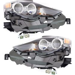 Led Headlight Set For 2014-2015 Lexus Is250 Left And Right W/ Bulbs Pair
