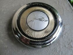 Chevy Impala Steering Wheel Horn Ring Chrome Center Cap Button Assembly 1962