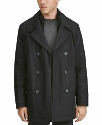 Marc New York Menand039s Coat Black Size 2xl Double-breasted Peacoat 275 273