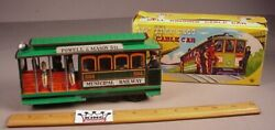 Vintage San Francisco Tin Friction Cable Car Toy 7 Metal Tm Japan Mib 1960and039s