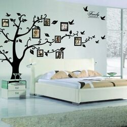 99*71in Black 3D DIY Photo Wall Tree Decals Home Decor Art Stickers