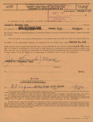 Groucho Julius Marx - Document Signed 12/06/1957 Co-signed By W. F. Upson